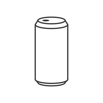 Beer can outline icon