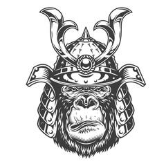 Vintage serious gorilla warrior