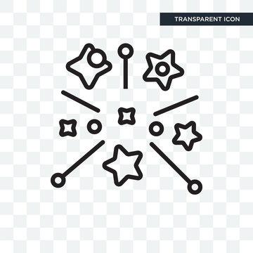 Magic vector icon isolated on transparent background, Magic logo design