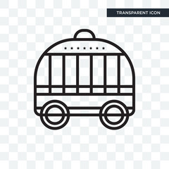 Cage vector icon isolated on transparent background, Cage logo design