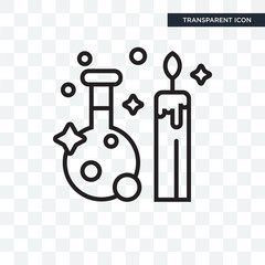Potion vector icon isolated on transparent background, Potion logo design