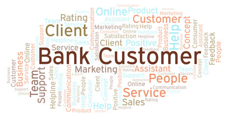 Bank Customer word cloud.