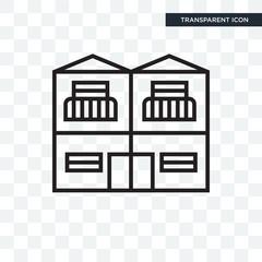 Duplex vector icon isolated on transparent background, Duplex logo design