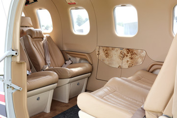 Luxury airplane interior