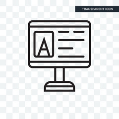 Computer vector icon isolated on transparent background, Computer logo design