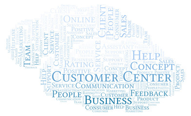 Customer Center word cloud.