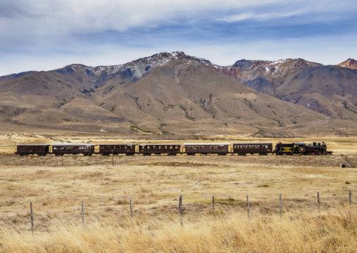 Old Patagonian Express La Trochita, steam train, Chubut Province, Patagonia, Argentina