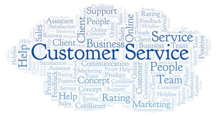 Customer Service word cloud.