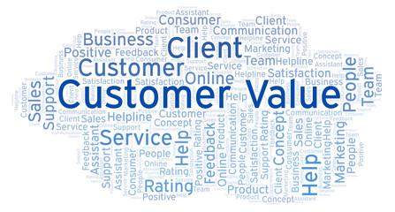 Customer Value word cloud.