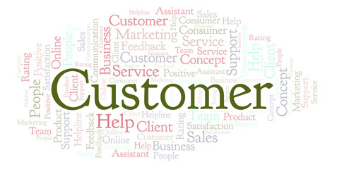Customer word cloud.