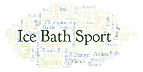 Ice Bath Sport word cloud.