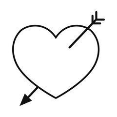 love heart pierced arrow passion romance