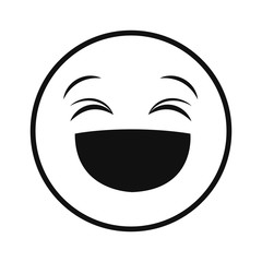 laughing smiley thin line emoticon face