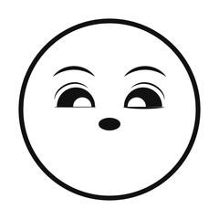 smiley thin line emoticon face