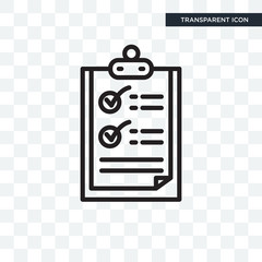 List vector icon isolated on transparent background, List logo design