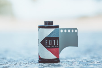 analog photo film reel