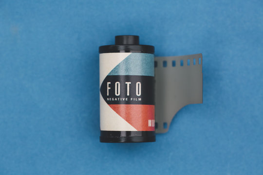 analog photo film reel
