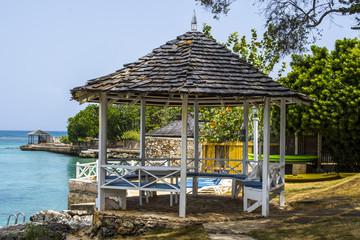 Jamaican beach hut