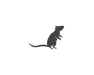 Rat silhouette logo design graphic