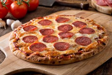 Cadres-photo bureau Pizzeria Homemade Pepperoni Pizza