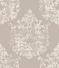 Damask ornament pattern Vector. Royal decor. Imperial background. trendy color textures