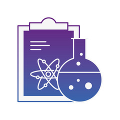 chemistry laboratory science clipboard atom test tube
