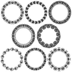 Greek ornamental  circle frames