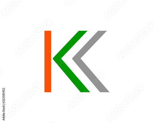 letter k arrow logo template stock image and royalty free vector
