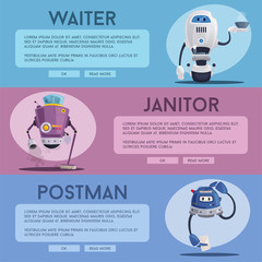 Robot characters. Technology, future