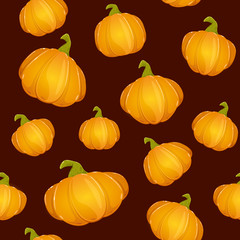 Dark seamless background with Pumpkins for Thanksgiving day