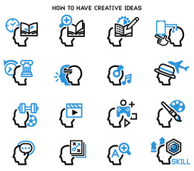 How to have creative good ideas. Preparation yourself for quality idea. Recreation Activity Balance brain.