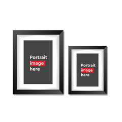 A3, A4 vertical blank picture frame for photographs on white background