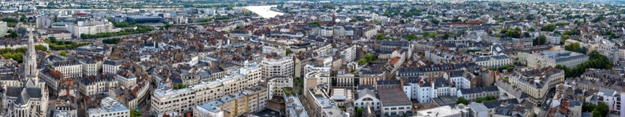 Panoramic view of Nantes in France from above Fototapete