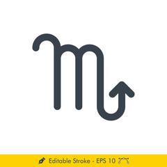 Scorpio sign Icon / Vector Set - In Line / Stroke Design