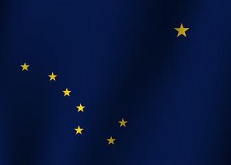Waving flag of Alaska