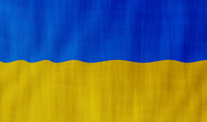 Illustration of a flying Ukrainian flag