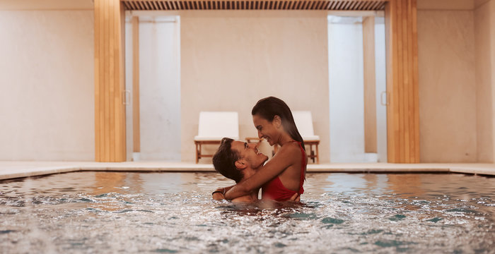 Couple In Love At Luxury Hotel