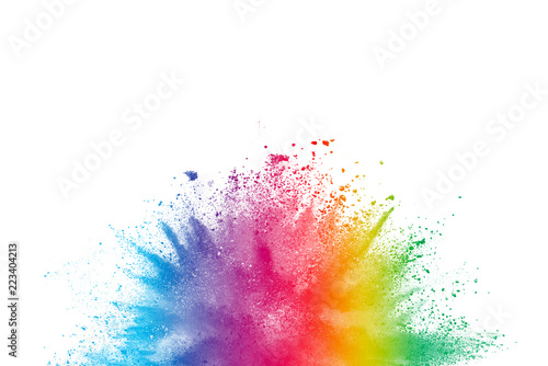 """""""Abstract Powder Splatted Background. Colorful Powder"""