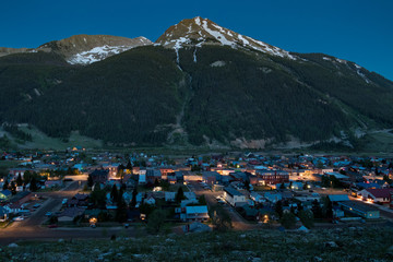 Silverton Colorado at Night