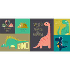 Card with cute dino