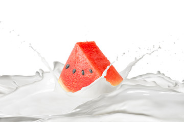 Watermelon and Milk Splash