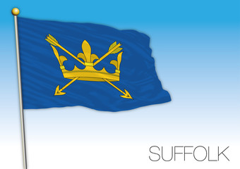 Suffolk county flag, United Kingdom, vector illustration