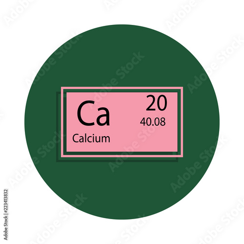 Periodic Table Element Calcium Icon In Badge Style One Of Chemical