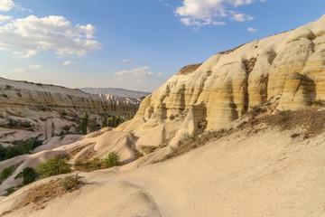 Landscape nature rock mountain valley in Cappadocia