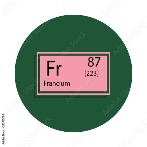 Periodic Table Element Francium Icon In Badge Style One Of Chemical