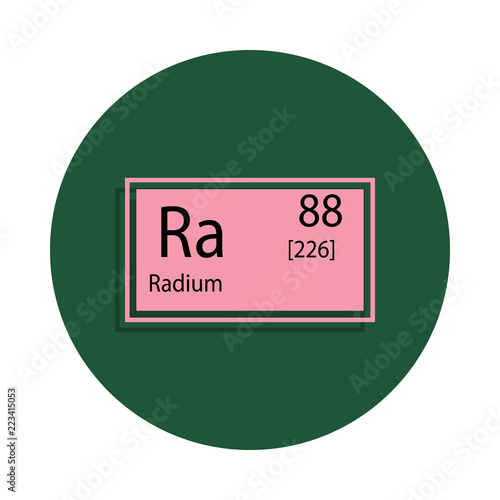 Periodic Table Element Radium Icon In Badge Style One Of Chemical
