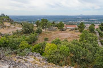 Castro do Jarmelo, restos de un poblado fortificado ocupado hasta le Edad Media cerca de Guarda. Portugal.