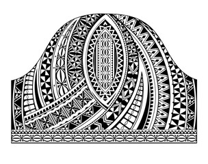 Polynesian style half sleeve tattoo template