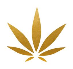 Cannabis Sign. Vector Leaf.