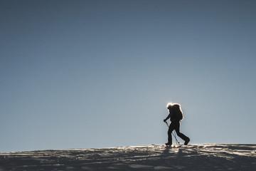 Man splitboarding, Whistler, British Columbia, Canada